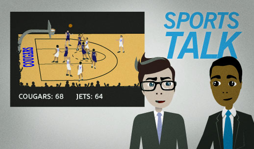 English Lesson: The Jets have let their 12-point lead going into halftime slip away.