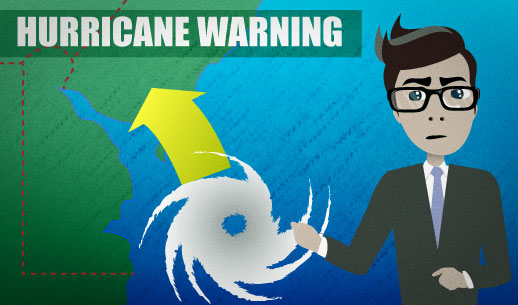 English Lesson: There is a hurricane warning in effect throughout Delaware and southern New Jersey.