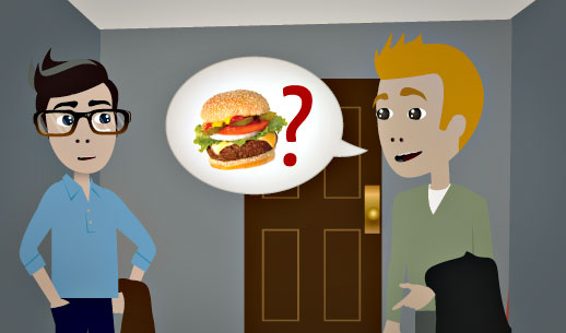 English Lesson: Do you know of a good burger place around here?