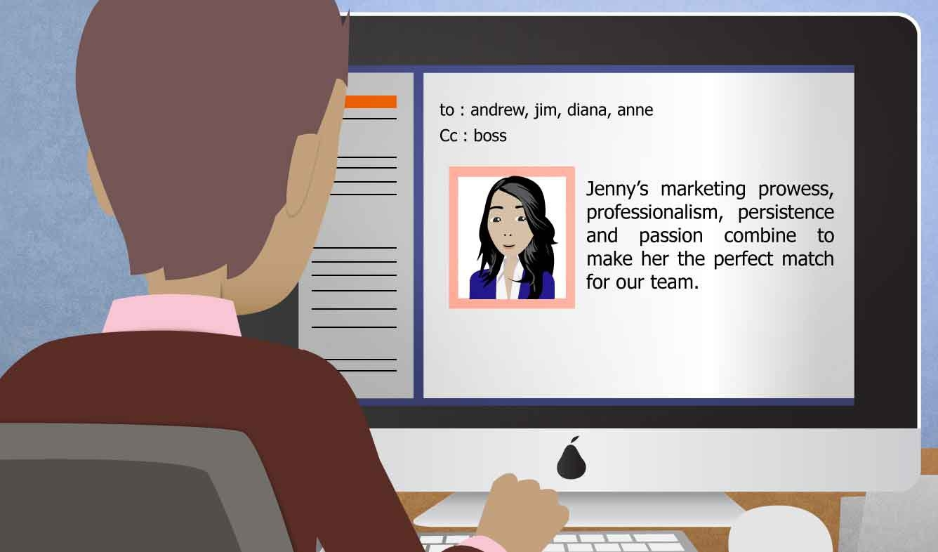 English Lesson: Jenny's marketing prowess, professionalism, persistence and passion combine to make her the perfect match for our team.